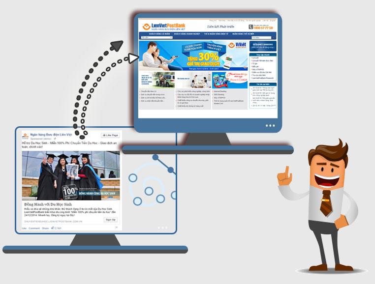 quảng cáo facebook click để thu hút vào website