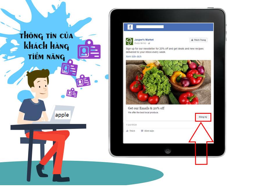 thu thập thông tin của khách hàng tiềm năng trên facebook